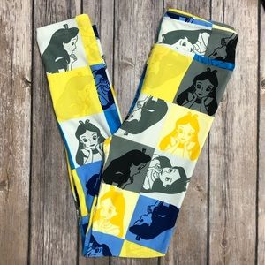 Alice! L/XL LuLaRoe x Disney Kids Leggings